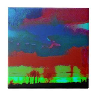 Carreau Ciel abstrait d'horizon modifié la tonalité par