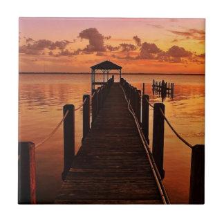 Carreau Ciel de coucher du soleil