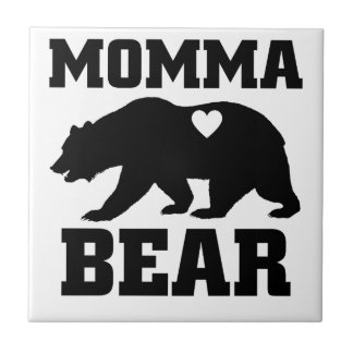 Carreau Citation de cadeau d'ours de mamans la meilleure