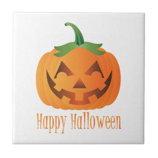Carreau Citrouille heureux de Halloween avec