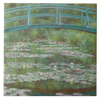 Carreau Claude Monet | la passerelle japonaise, 1899