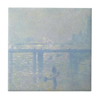 Carreau Claude Monet - pont croisé de Charing. Art