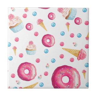 Carreau Collage rose de beignet