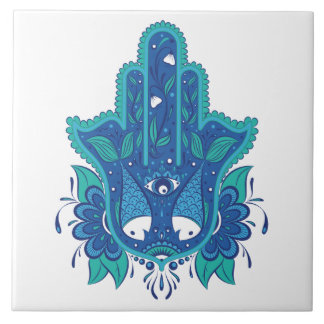 Carreau Conception bleue de Hamsa