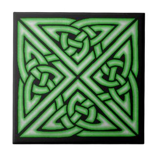 Carreau Conception celtique d'art de noeud en vert