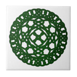 Carreau Conception celtique verte de noeud