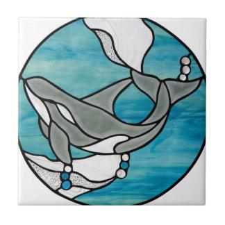 Carreau Conception d'art en verre souillé de baleine