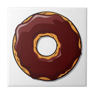 Carreau Conception de beignet de chocolat de bande
