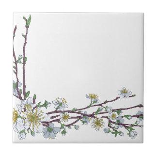 Carreau Conception de coin de fleurs de fleurs de cerisier