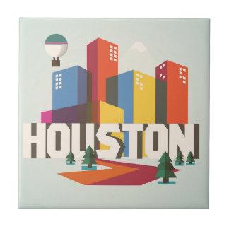 Carreau Conception de Houston, paysage urbain du Texas  