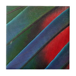 Carreau Conception dirigée bleue de plume de perroquet