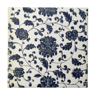 Carreau Conception florale vintage