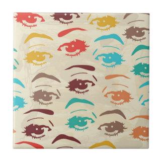 Carreau Conception graphique de yeux géniaux