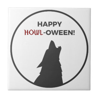 Carreau Conception heureuse de Halloween de loup-garou