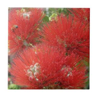 Carreau Conception indigène hawaïenne de fleur d'Ohia
