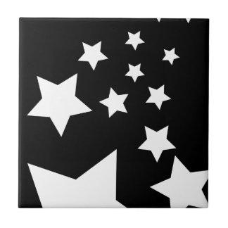 Carreau Conception noire et blanche d'étoile d'amusement