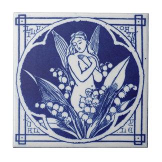Carreau Conception vintage bleue et blanche de la tuile