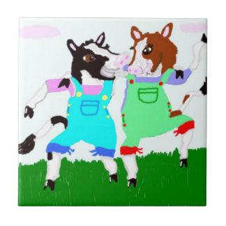Carreau Conceptions de Moohug avec des vaches