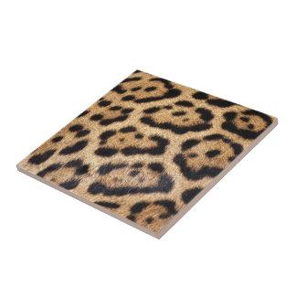 Carreau Copie de photo de fourrure de Jaguar