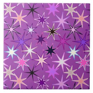 Carreau Copie moderne de Starburst, pourpre violet et