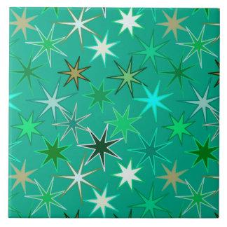 Carreau Copie, turquoise et Aqua modernes de Starburst