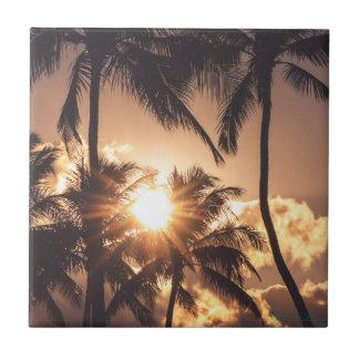 Carreau coucher du soleil d'Hawaï