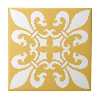 Carreau Couleur personnalisable de French Fleur de Lys