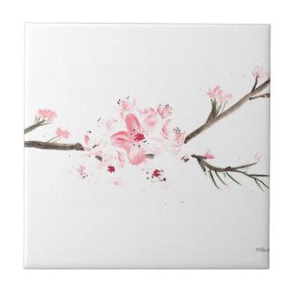 Carreau Couleur pour aquarelle de fleurs de cerisier