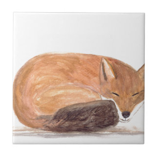 Carreau Couleur pour aquarelle de sommeil de Fox