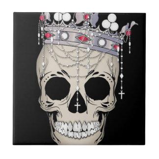 Carreau Couronne d'horreur de Halloween de cadre d'os de