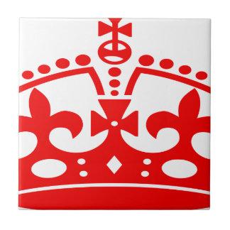Carreau Couronne rouge