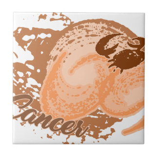 Carreau Crabe orange d'horoscope de Cancer