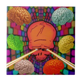 Carreau Crâne psychédélique