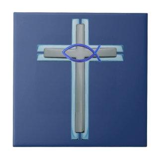 Carreau Croix bleue d'Ichthus