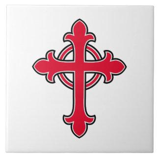 Carreau Croix chrétienne