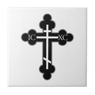 Carreau Croix orthodoxe