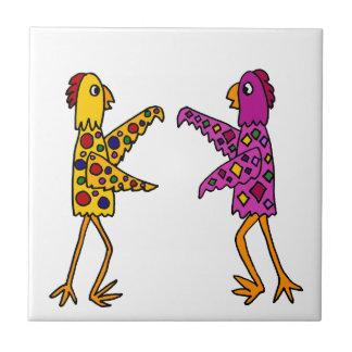 Carreau Danse géniale drôle de poulets