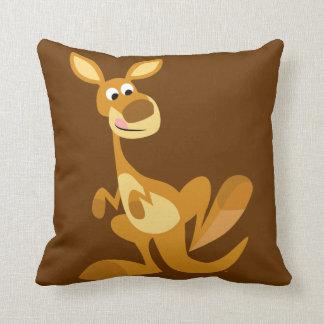 Carreau de battement mignon de kangourou de bande  oreiller