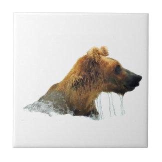 Carreau de céramique avec l'ours gris