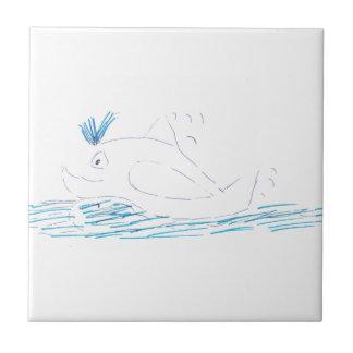 Carreau de céramique de baleine d'imbécile