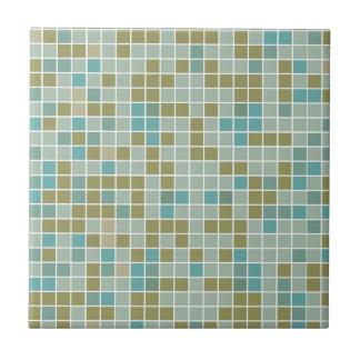 Carreau de céramique de Brown, de bleu, de gris,