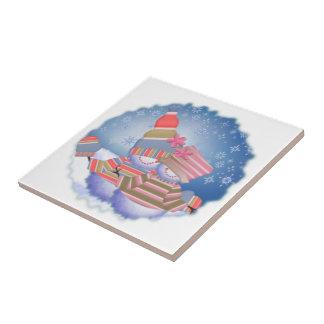 Carreau de céramique de couples de neige