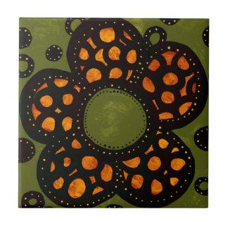 Carreau de céramique de fleur
