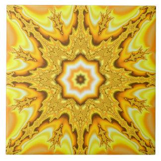 Carreau de céramique de fractale d'étoile d'or