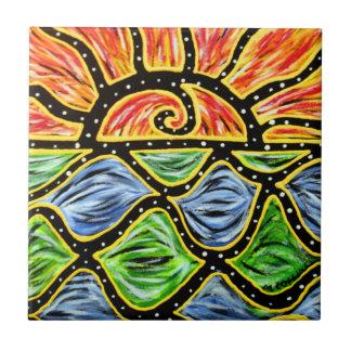 Carreau de céramique de lever de soleil