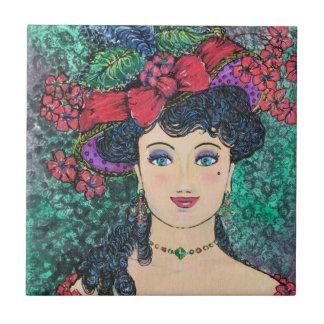 Carreau de céramique de Madame Madeline Small