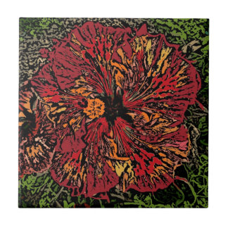 Carreau de céramique décoratif de fleur artistique