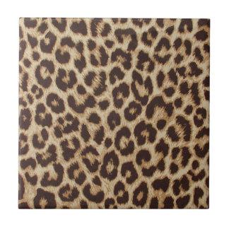 Carreau de céramique d'empreinte de léopard