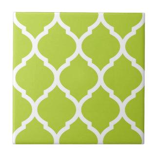 Carreau de céramique modelé par Quatrefoil vert de