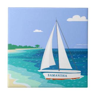 Carreau de céramique tropical côtier de voilier de